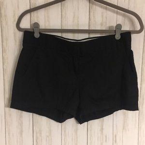Size 4 J. Crew Black Broken In Chino Shorts
